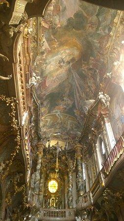 Asam Church: ceiling