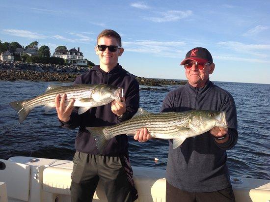 Seacoast New Hampshire Sportfishing: Striper Catching! John & Darryl