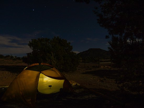 Abiqui Lake: My tent at Riana Campground