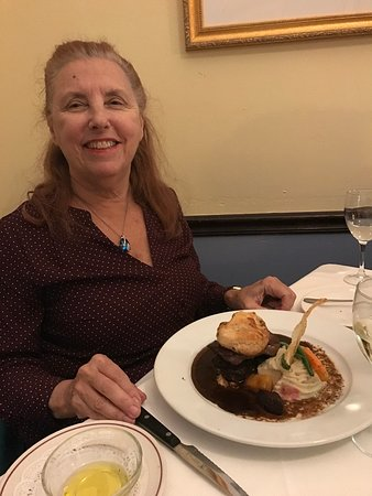 Ridgewood, NJ: Debra with Beef Wellington.