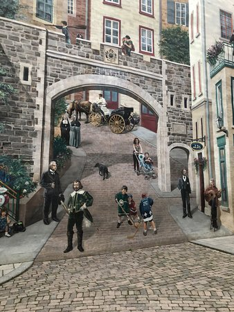 Closeup Of Large Mural In Old City Nearby City History Presented