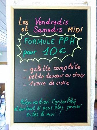 Arzviller, Франция: la formule du vendredi et samedi midi !