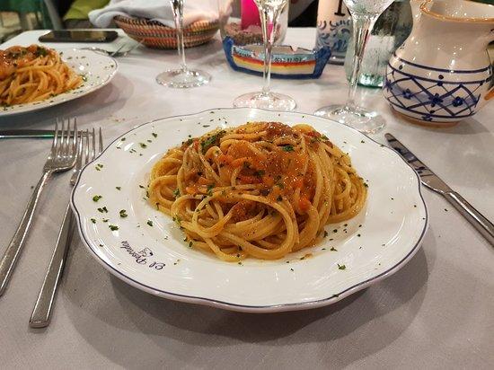 Trattoria El Pescador: Spaghetti ai ricci di mare