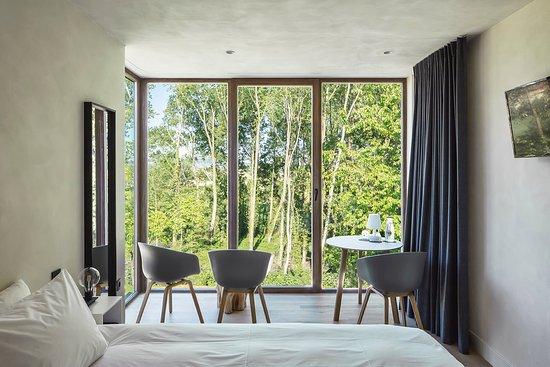 Kemmel, Belgia: Het uitzicht vanuit kamer Räven