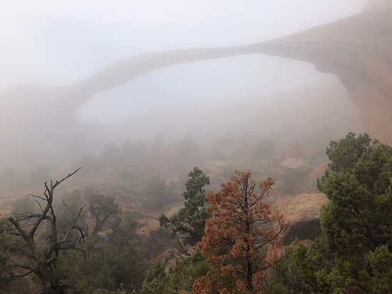 Landscape Arch - in the fog