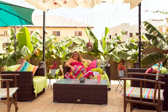 Brufut, Gambia: Relaxation Terrace - Denise the owner