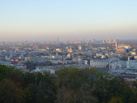 Overlooking the city of Kiev from St. Andrew's Church