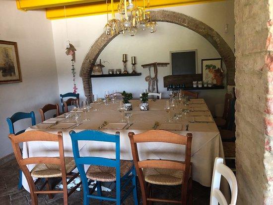 Campagnatico, Ιταλία: Saletta interna