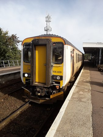 Norfolk, UK: Diesel Multiple Unit at Hoveton & Wroxham station