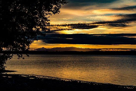 Alburgh, VT: Sunrise over the lake