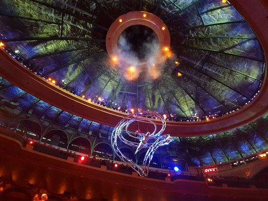 O - Cirque du Soleil: The roof of the stage