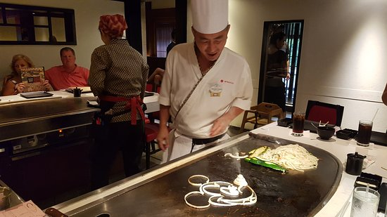 Teppan Edo: Amazing Mickey made by our chef.