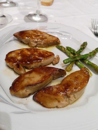 Foie de pato a la brasa - Restaurant Fonda Giralt (Amer-Girona)