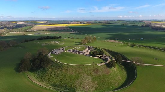 Salisbury, UK: Old Sarum from the air