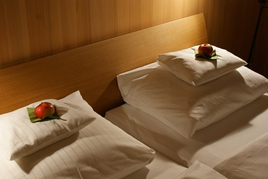 Hittisau, Austria: Prachtige kamer in moderne Oostenrijkse stijl...heel schoon en een fantastisch bed.