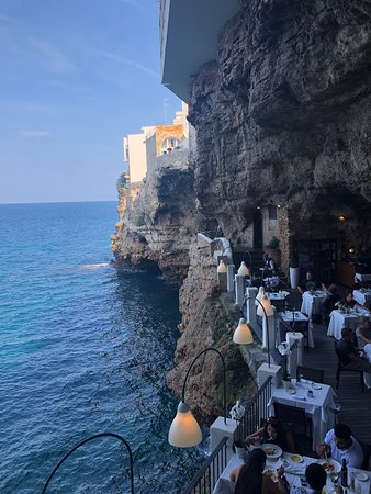 Ristorante Grotta Palazzese: View from stairs.