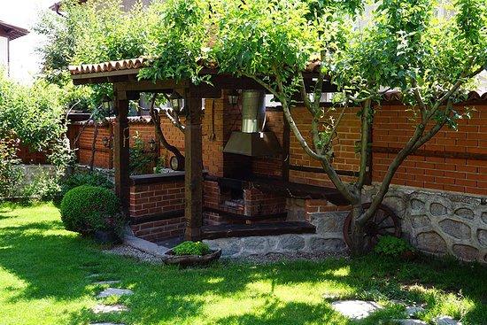 Summer garden and barbecue