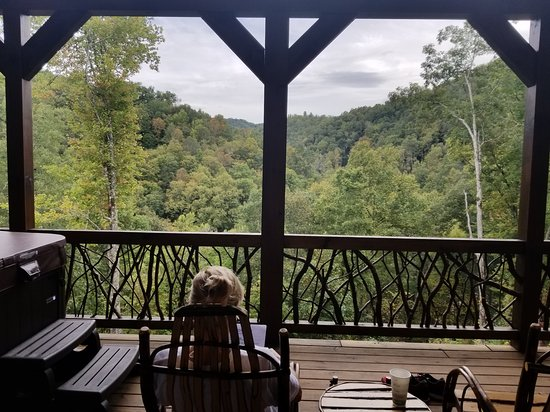 Nantahala Township, Carolina del Norte: Our view from the back porch!