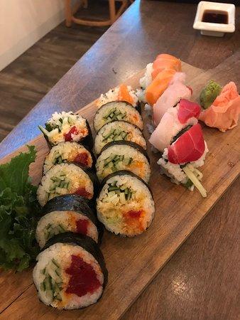 Assorted Salmon Kamikaze, Spicy Tuna and Rainbow