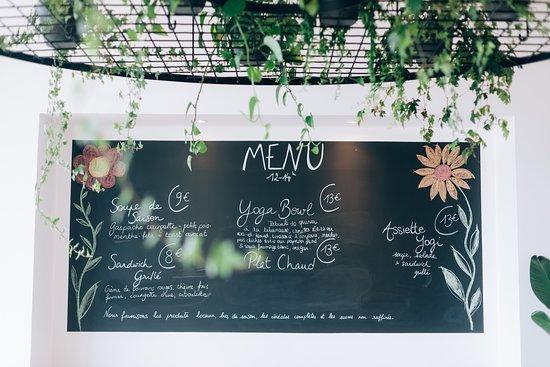 Bondues, Frankreich: Menu qui varie, 100% fait maison et végétarien, qui privilégie les aliments, bio, local et de sa