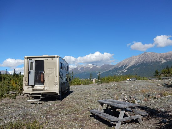 Wrangell-St Elias National Park and Preserve, AK: Campingplatz am Kennicott River mit Aussicht