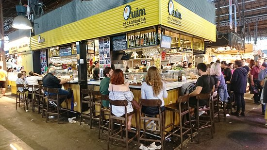 Mercat de la Boqueria: 13-10-2018 : le bar Quim
