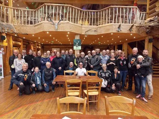 Muchedent, Frankreich: Groupe des Motards Tranquilles dans la salle de réception country.