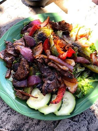 Javelina Cantina: Fajita salad ♥ best tasting salad EVER w/avocado vinaigrette!