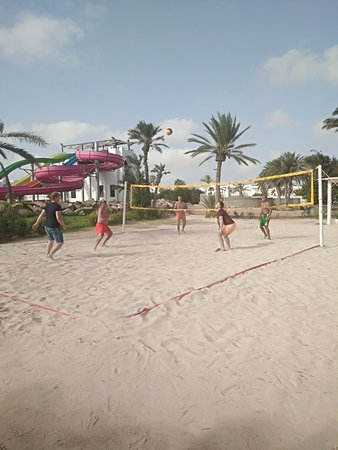 Волейбольная площадка. Рядом с ней площадка для стрельбы из лука