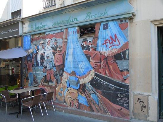 Fresque Scènes Bretonnes