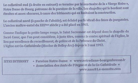 Eglise Notre-Dame de Bourg-en-Bresse: Le guide de visite de cette église