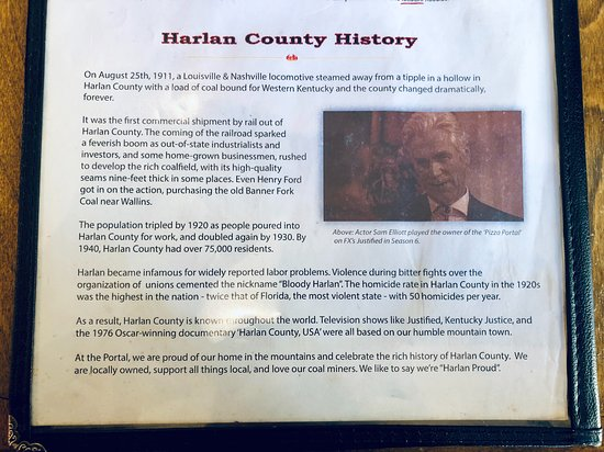 Harlan, KY: History on the menu