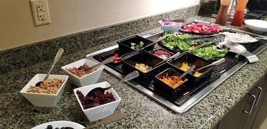 complimentary evening social (salad night)