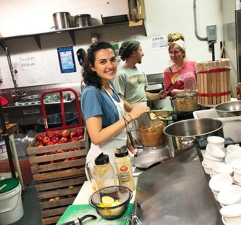 Olga Gallery, Cafe, & Bistro: Pressing Apple Cider at Olga's!