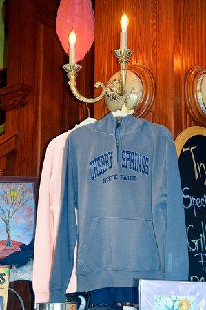 Olga Gallery, Cafe, & Bistro: Pick up a Cherry Springs State Park hoodie at Olga's!