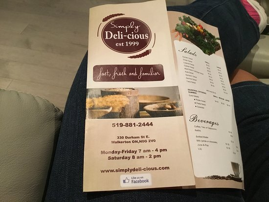 Walkerton, Canada: Menu prices