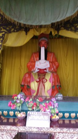 Zhong County, China: Part of a display inside the Temple