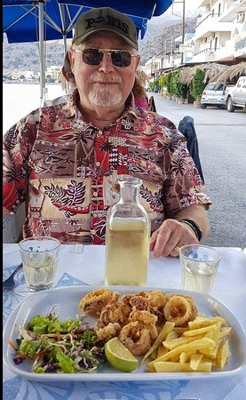 ‪‪Tsoutsouras‬, اليونان: Calamari, best eaten with cold white local wine!‬