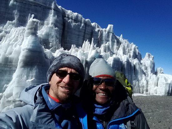 Frozen Peak Adventures: Permanent ice clacer at Uhuru Peak