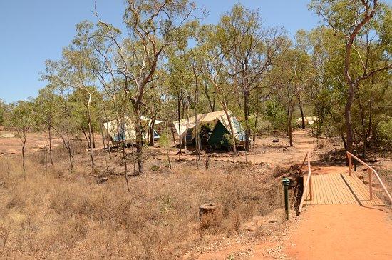 Mount Surprise, Australia: tent village at Undara
