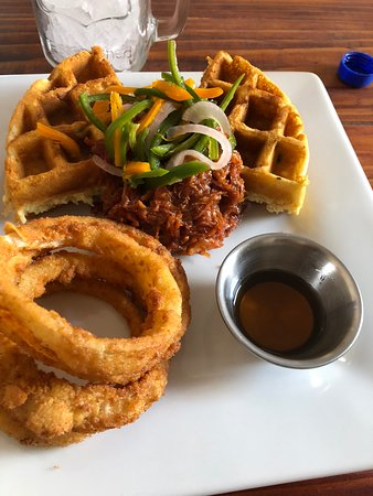 Pork and waffles. Unbelievably delicious.