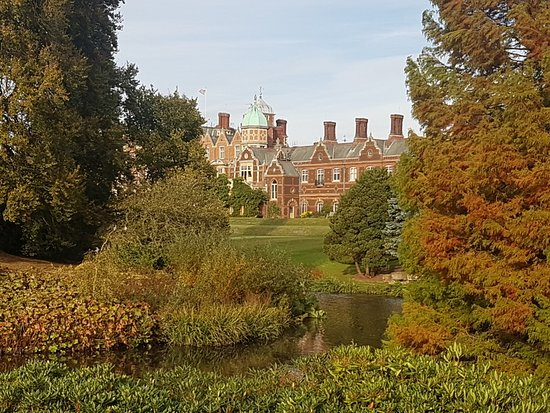 Sandringham, UK: The House from the gardens and lakes
