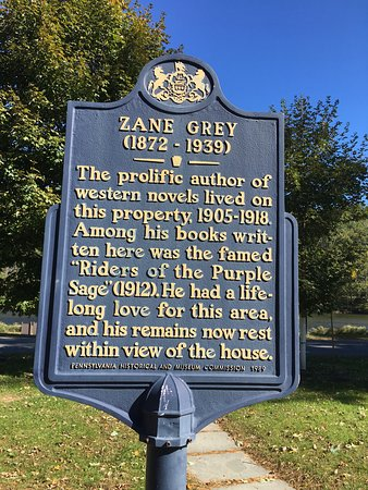 Lackawaxen, PA: Zane Grey Historic Register Sign