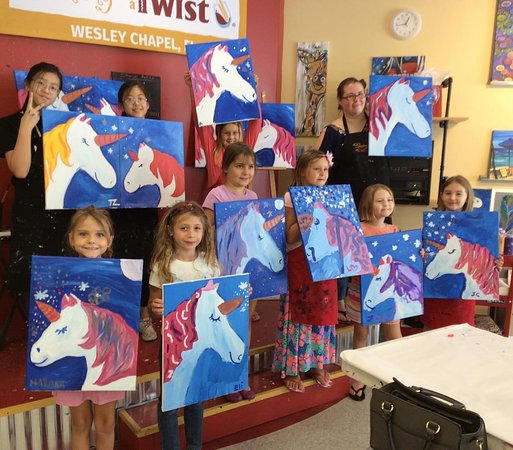 Mommy and Me events - Picture of Painting With A Twist - Wesley