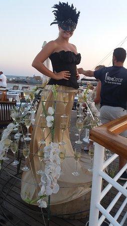 Wave Dancer Boat Trips: Champers girl