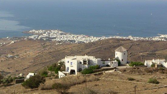 Triantaros, Hellas: vue de l'hotel