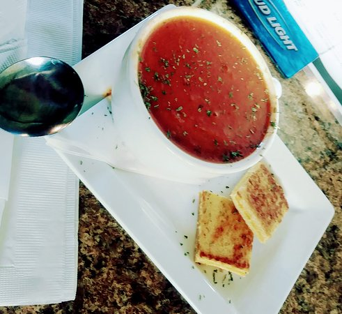 Corry, PA: Our Hearty Tomato Soup with Grilled Cheese Croutons