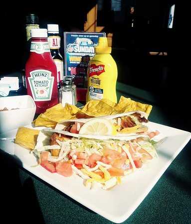 Corry, PA: Featured Special - Fish Tacos served with warm Tortilla Chips and Salsa