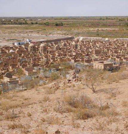 Nukus, Usbekistan: A top view on the Necropolis