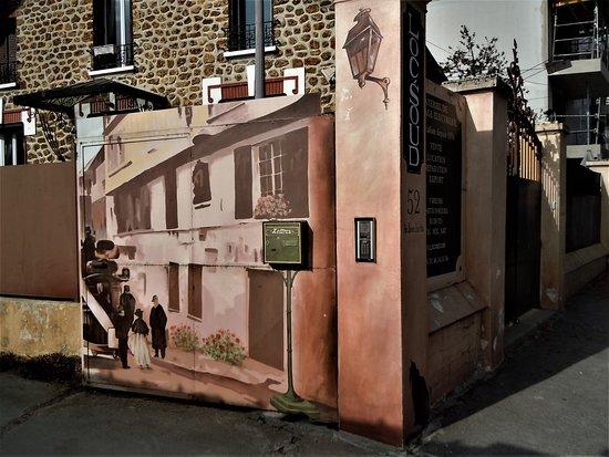 Rosny-sous-Bois, Frankrike: Un battant du portail